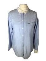 Abercrombie & Fitch Ladies Cotton  Blue Chambray Shirt Size M ( L1)