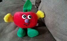 "Gazelle Fruit Cherry Plush Apple 6"" Stuffed Animal Toy Red Smiling Food CUTE"