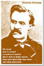 Friedrich Nietzsche presupuesto impresión arte Foto Afiche Regalo Filosofía