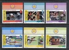 Isle of Man 2002 Commonwealth Games-Attractive Sports Topical (942-47) Mnh