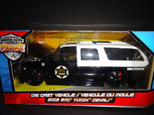Jada GMC Yukon Denali Police 2002 Black and white 1/24