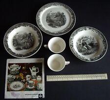 1969 Villeroy & Boch Artemis Hunting 2 Deep Plates+1 Flat Plate 230mm+2 Cups