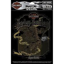 """Harley-Davidson Pegatina, Adhesivo """"HIGH FLYER"""" pegatina, Oro DC176683"""