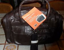 """18"""" Leather Tote Bag Gym Duffle Travel Luggage Overnight Carry-on Black or Brown"""