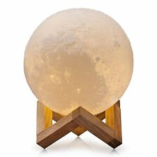 Moon Night Lamp Light LED, Warm/Cool White Dim Touch control USB Recharge Gift!