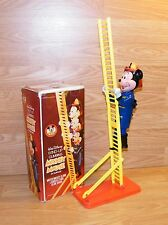 Vintage Walt Disney Wind-Up Fireman Mickey Mouse Climbing Ladder Toy 5780 *READ*