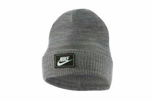 Nike Unisex Adult's Sportswear Cuffed Futura Beanie Hat CW6323-071 Gray
