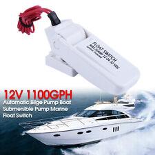 12V 1100GPH Automatic Bilge Pump Boat Submersible Pump Marine Float Switch ZC