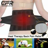 Lower Back Support Belt for Pain Relief Sciatica Herniated Disc Heating Brace US