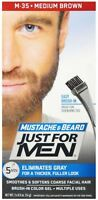 JUST FOR MEN Color Gel Mustache - Beard M-35 Medium Brown 1 ea (Pack of 2)