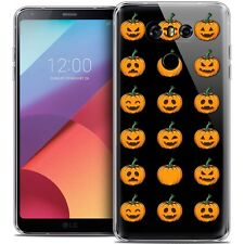 Cover Crystal Gel for LG G6 Extra Fine Flexible Halloween Smiley Pumpkin
