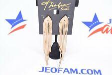 Thalia Sodi Gold-Tone Snake Chain Fringe Drop Earrings