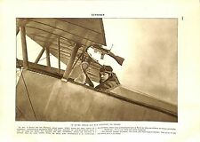 WWI Pilote As de l'Aviation Georges Guynemer Avion Nieuport Chasse ILLUSTRATION