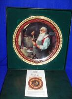 """""""Santa In His Workshop"""" Collector Plate By Norman Rockwell"""