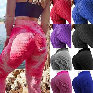 Women's Anti-Cellulite Yoga Pants Sports Butt Lifter High Waist Fitness Leggings