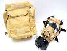 More details for nato issue desert gas mask nbc hot weather army tan respirator set french polish