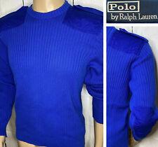 Vintage Polo Ralph Lauren Sweater Military Tactical Commando Epaulets 90s L RARE