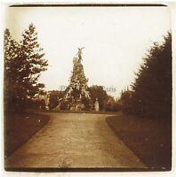 Italia Torino Monumento Placca Da Lente Stereo Positivo Vintage Ca 1910
