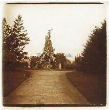 Italie Turin Monument Plaque de verre stéréo Positif Vintage ca 1910