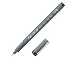 NEW STAEDTLER MARSGRAPHIC PIGMENT LINER BLACK INK 0.5mm WRITING OFFICE SUPPLY