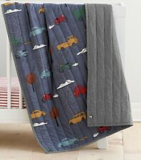 NWT HANNA ANDERSSON COTTON REVERSIBLE DAYTRIPPER CARs TRUCKS  QUILT LILLA CRIB