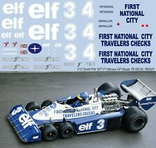 1/12 TYRRELL P34 MONACO F1 GP 1977 PETERSON DEPAILLER DECALS TB DECAL TBD425