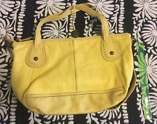 The Sak ladies yellow pebbled genuine leather shoulder crossbody bag purse