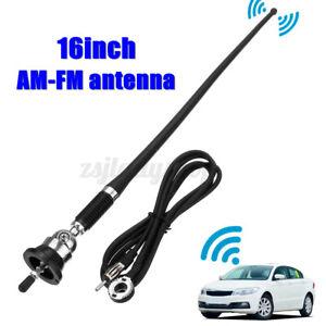 "16"" Car Auto Roof AM/FM Mast Whip Style Aerial Radio Antenna Amplified Signal AU"