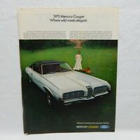 FORD MERCURY COUGAR 1970 VINTAGE ADVERTISING MAGAZINE PAGE