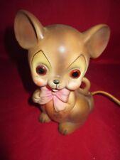 Vintage 1960s Josef Originals Mouse Night Light Figurine Japan