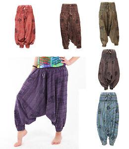 Harem Pants Trousers Baggy Drop Crotch Aladdin Hippy Festival