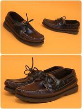 Sperry Top Sider Men's Sz 10 M 2-Eye Mako Amaretto Canoe Moc Shoes 0764027