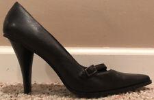 Dollhouse Giona Black Leather HIgh Heel Pumps Size 6.5 Womens Shoes