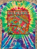 25th Anniversary Lollapalooza Tie Dye Tee Shirt Adult Medium 2016 Chicago NWOT