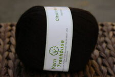 100% wool Fingering weight knitting yarn with Charcoal Black- 620