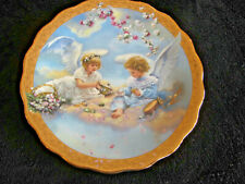 """1998 """"Precious Party"""" By Sandra Kuck's Gardens of Innocence Plate, Reco Numbered"""