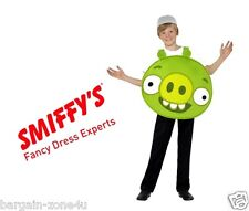 Smiffy's Angry Bird Green Helmet Fancy Dress Party Clothes Kids Custome Clearanc