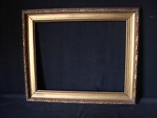 Cadre doré style Empire ancien baguette à palme de laurier 51,4 x 40,6 c