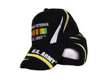 U.S. Army Vietnam Vet Veteran Ribbon Black Embroidered Ball Cap Hat