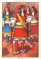 COSTUME 1660 HOMME EPOQUE LOUIS XIV FRANCE IMAGE CARD 50s