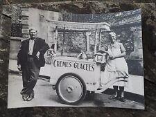 Photographie ancienne , Sens Yonne 89 Marchand de glaces Crèmes Glacées