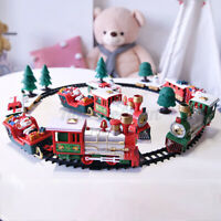 Christmas Train Set Track Deluxe Musical Sound Light Around Tree Decoration Gift