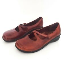 Planet Shoes Womens Size 7.5 Burgundy Leather 'Gin Gin' Slip on Flat Shoes