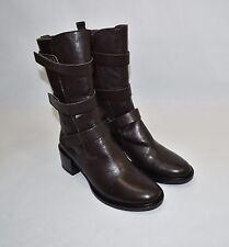 New! COCLICO MABEL Boot Black Moka Leather  Size 8 US 38 1/2 EU MSRP $550