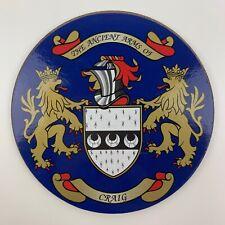 Family Coat of Arms Surname Coaster CRAIG Heraldic Crest Circular Drinks Mat
