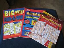 Three Great Puzzle Books * Ultimate Crosswords * Word Quest * Find a Word *