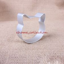 3D Durable Cute Cat Face Cookie Metal Cutter Cake Mold Chocolate Decorating Tool