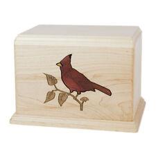 Wood Cremation Urn (Wooden Urns) - Maple Cardinal