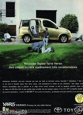 Publicité advertising 2000 Toyota Yaris Verso