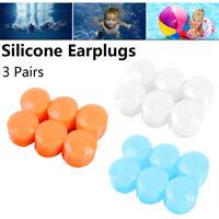Reusable Sleeping Swimming Earplugs Earmuffs Ear Plugs Soft Silicone  Waterproof